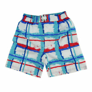 Boys Board Shorts Red/White/Blue Stripe Size Year 3 or 4