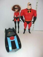 "Lot Mr. Incredible Elastigirl Action Figures 11""  Doll, Jumping Car Disney Pixar"