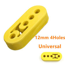 Car Universal Yellow 12mm 4 Holes Exhaust Pipe Mounting Rubber Brackets Hanger