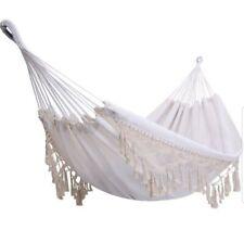 ONCLOUD Boho Large Brazilian Fringed Macramé Hammock Swing Bed (GG1)