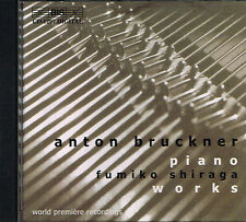 CD album: Anton Bruckner: Piano Works. Fumiko Shiraga. BIS. I