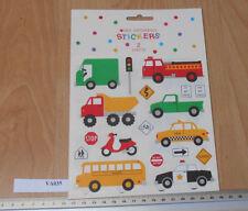 Mrs Grossman's Pegatinas Tai autobús escolar policía fuego Etc 2 Hojas