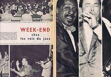 COUPURE DE PRESSE CLIPPING 1956 LES ROIS DU JAZZ (2 pages)