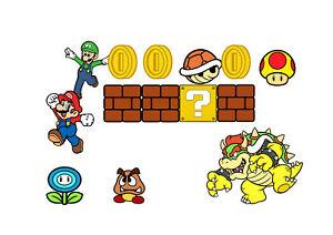 Super Mario Video Game Bedroom Wall Collage Sticker Art Nintendo