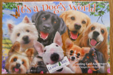 20 Leanin Tree Greeting Box Cards Set It'S A Dogs World, Puppies Card Assortment