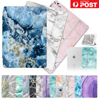 Marble Front&Back Smart Case Cover for iPad 2 3 4 5 6 Mini Air Pro 9.7 10.5 F001