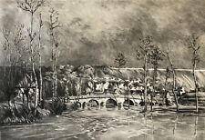 Estampe avant la lettre postimpressionnisme Amis des arts XIX vers 1892