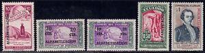 1950 Ecuador SC# 536-540 - Nos. 528 and 517 to 519 Overprinted in Black - M-H