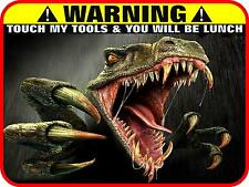 TOOLBOX WARNING T-REX MAGNET SNAP ON MATCO REFRIGERATOR FRIDGE GUN SAFE  NASCAR