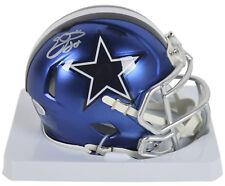Cowboys Emmitt Smith Authentic Signed Blaze Mini Helmet BAS Witnessed