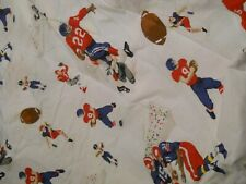 NEW Other  Pottery Barn Kids Vintage Football Queen 4pc Sheet Set, Sports