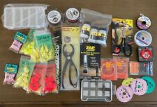 HUGE FLY FISHING GEAR LOT Trout Leaders Maxima RIO Rising Orvis Simms Loon Sage