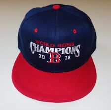 Boston Red Sox 2018 World Series Champions Navy Blue Baseball Hat with Red Bill