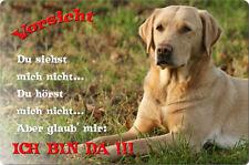 LABRADOR - A4 Metall Warnschild Hundeschild Alu SCHILD Türschild - LAB 48 T2 BLO
