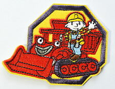 HOT SALE! Lovely Bob the Builder bulldozer Iron On Patch Shirt Jean Applique