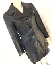 Vintage 1960s 60s Suede And Leather Craft Blue Mod Leather Jacket Size 8