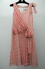 NEW Carolina Herrera Sleeveless Silk Dress White Red Polka Dot Bow 2