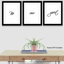 Set of 3 A4 Be our guest Typography Prints Poster Pictures Gift Wall Art