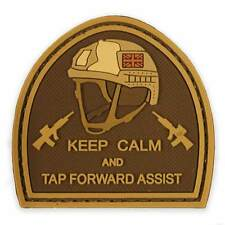 PVC Keep Calm & Tap Forward Assist Military Tactical British Army Morale Patch