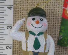 Boy Scouts of America Snowman Cub Scout Christmas Ornament w Backpack & Necktie