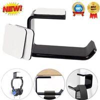 Acrylic Headphone Stand Hanger Hook Tape Under Desk Dual Headset Mount Holder/BS