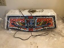 NEW OLD STOCK RARE VINTAGE OLD STYLE BEER POOL TABLE LIGHT STAINED GLASS LOOK