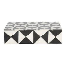 Handicrafts Home 8x5 Black & White Triangle Keepsake Decorative Jewelry Storage