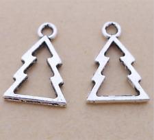 Christmas tree Tibetan Silver Bead charms Pendants fit bracelet/20pcs