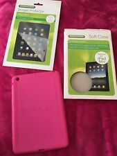 Ipad Mini Pink Soft Case + Screen Protector
