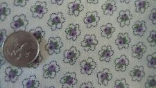 """Vintage Feedsack Feed Sack Fabric SMALL FLORAL WITHIN FLORAL ON WHITE 37""""x40"""""""