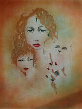 Samantha: Portrait of Family - Lithography Original Signed #150ex #Vintage