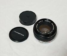Olympus OM-System Zuiko Auto-S 50mm f1.8 Manual Focus Lens For OM Cameras