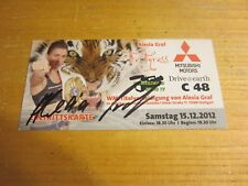 Alesia Graf Fighter Autographed Signed 4X8.25 Photograph/Flyer Boxing