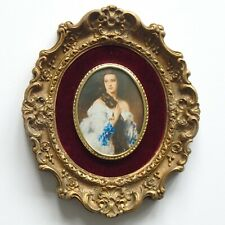 ORNATE VICTORIAN STYLE OVAL SMALL PICTURE FRAME RUSTIC LOOK