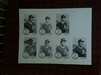 5 UNCUT SHEETS - MARK MCGWIRE - 1985 Chong Modesto A's - Minor League - FREE S&H