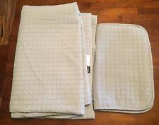 Gray Twin XL Quilt Set, 2 Piece, Quilt And Sham, EUC