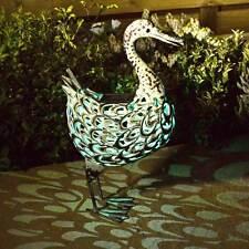 Metal Silhouette Solar Duck Garden Light  - Smart Garden