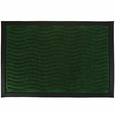 Rubber Welcome Door Entrance Mat Indoor Outdoor Non Slip Absorbent Flat Rug Waves Grey 14252
