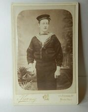 More details for royal navy sailor 19th century cabinet card koenig studios paddington london