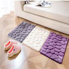Coral Fleece Bathroom Memory Foam Rug Kit Toilet Pattern Bath Non-slip Mats