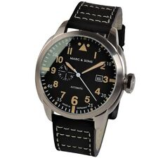 MARC & SONS Automatikuhr Miyota 8217 Herrenuhr Fliegeruhr Pilot Watch MSF-006-4