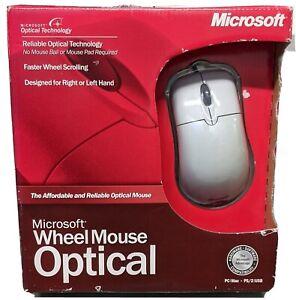 Brand New Vintage OG Microsoft Optical Wheel Mouse PS/2 and USB