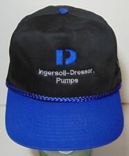 Ingersoll Dresser Pumps GAS OIL WATER Advertising BLACK BLUE SNAPBACK HAT CAP