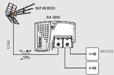 KIT TELEVES ANTENNA 149501 DAT 45 E AMPLIFICATORE A 2 USCITE DA INTERNO 5605