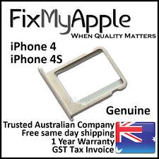 iPhone 4 4S Genuine Original Sim Tray Aluminium Holder Slot Card Micro Silver 4G