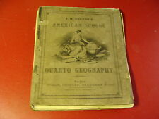 1865 J.H. Colton's American School Quarto Geography W/ 100+ STEEL PLATE MAPS