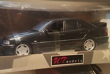 UT Models 1/18 Scale - Mercedes-Benz C 36 AMG, Black Diecast Model - Boxed