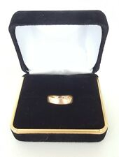 ANTIQUE VICTORIAN VINTAGE 18K SOLID YELLOW GOLD 5.5 WEDDING RING/BAND 2.1 GRAMS