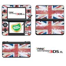 GB-Union Jack-Grunge Stile Vinile Pelle Per Nuovo Nintendo 3ds XL (con Stick C)
