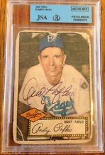 1952 Topps #1  Andy Pafko ROOKIE CARD RC  SIGNED AUTO AUTOGRAPH  JSA/BGS Slabbed